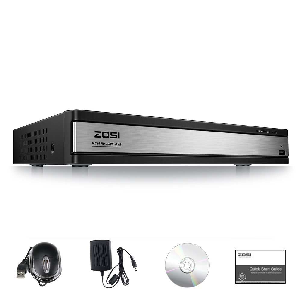 ZOSI 16Channel 1080P 4-in-1 Hybrid Security DVR Video Recorder System for 960H//720P//1080P CCTV Surveillance Cameras with Remote Viewing /& Motion Detection NO HDD AHD//TVI//CVI//Analog