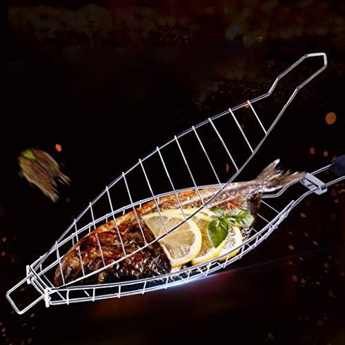 ruiruiNIE Barbecue Griller Panier De Viande De Poisson Clip Hangable Poissons Grillés Dossier BBQ Pique-Nique Outils