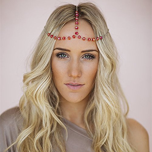 Costumes Teen Red Ruby Goddess (Hypnotique Tassel Head Chain)