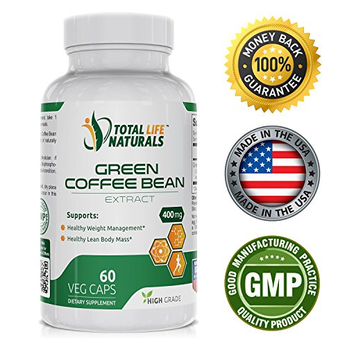 Worthy Green Coffee Bean Extract Pills with 50% Chlorogenic Acid per Vegetarian Capsule | Natural Weight Loss Support for Men and Women | Made in the USA by Sum total Life Naturals