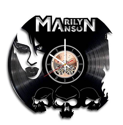 Amazon Marilyn Manson Design Vinyl Wall Clock Handmade Gift