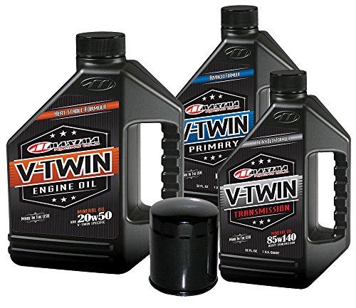 MaximaHiflofiltro VTTOCK07 Complete Engine Oil Change Kit for V-Twin Harley Davidson Evolution, 6 quart