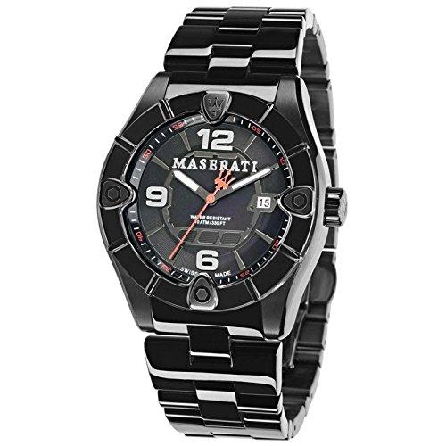 Maserati Reloj de Pulsera para Hombre XL analógico de Cuarzo Acero Inoxidable r8853111001