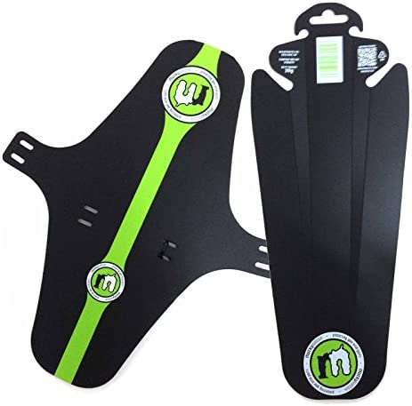 Mucky Nutz Face Fender XL Butt Fender Bike Mudguard Set – Black Green