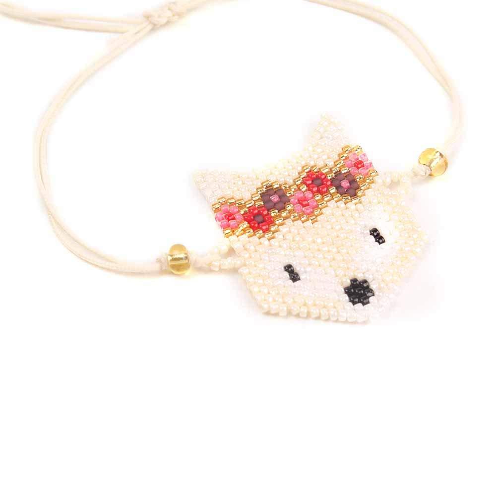 BALIBALI Miyuki Seed Beads Cute Bracelet Children Toddler Wrist Adorable Charming Fox Bracelet Birthday Gifts for Teens Boys Girls Little Child