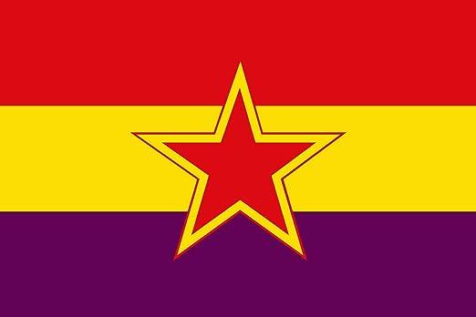 magFlags Bandera Large Partido Comunista de España reconstituido   Bandera Paisaje   1.35m²   90x150cm: Amazon.es: Jardín
