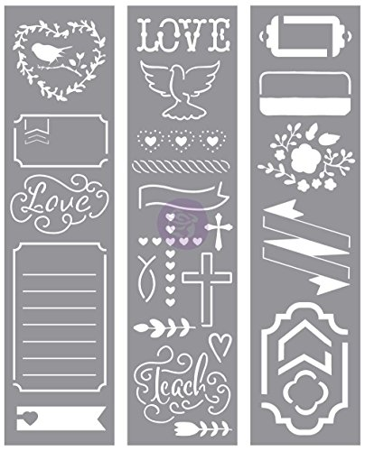 Prima Marketing 655350589912 Love Faith Scrap -Stencils