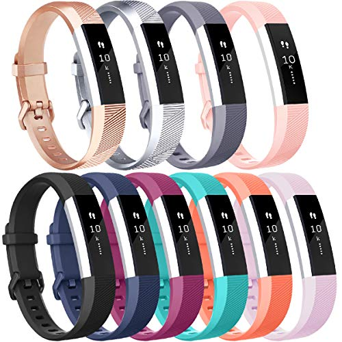 Vancle Sport Bands Replacement for Fitbit Alta and Fitbit Alta HR, 10 Pack (#10PCs-C, Large)