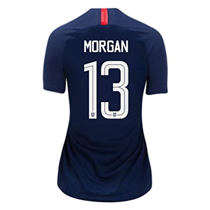 55a466733 Amazon.com   USA Away Women s Soccer Jersey 2018 2019 Morgan  13 Size  Women s Large   Sports   Outdoors