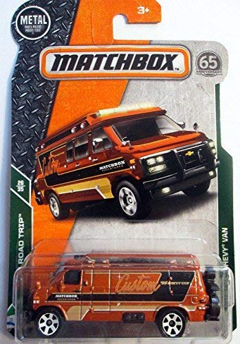 2018 Matchbox MBX Road Trip 26/35 - '95 Custom Chevy Van (Dark -