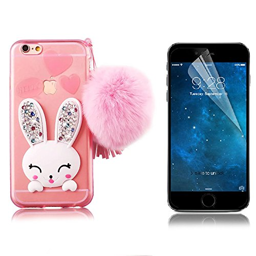 bonice-phone-case-for-iphone-7-cute-cartoon-rabbit-bling-diamond-crystal-clear-soft-transparent-tpu-