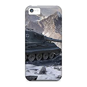 Hot Style NJp34479iixf Protective Cases Covers For Iphone5c(world Of Tanks King Tiger)
