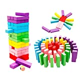 KIINGSUNG Wooden Stacking Toys Board Games Building Blocks for Kids - 48 pieces