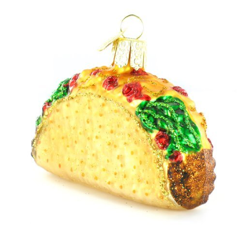 Boston Christmas Tree Delivery: Old World Christmas Taco Glass Blown Ornament