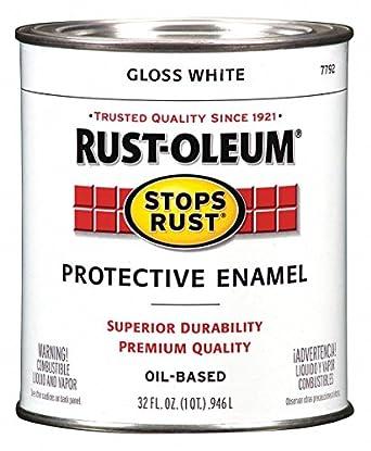 Enamel Paint Gloss White Solvent 1 Qt