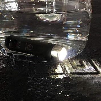 A1 schwarz Wandern Schl/üsselanh/änger Taschenlampe RovyVon Wiederaufladbare LED Taschenlampe EDC Mini Taschenlampe f/ür Radfahren Camping