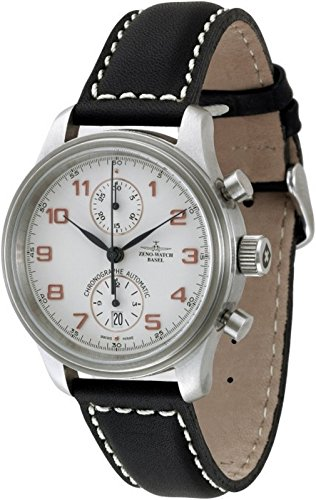 Zeno-Watch Mens Watch - NC Retro Chronograph Bicompax - 9557BVD-f2