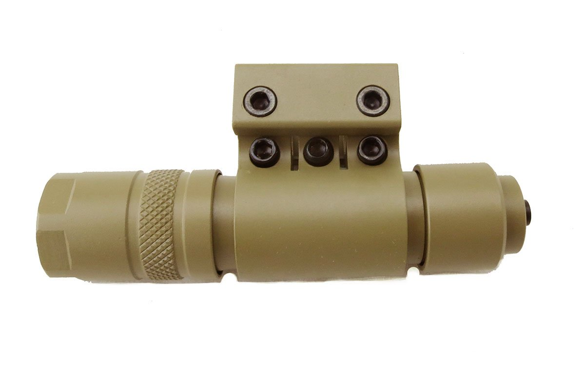 Monstrum Tactical 90 Lumens LED Flashlight with Rail Mount and Detachable Remote Pressure Switch (Flat Dark Earth) by Monstrum Tactical (Image #2)