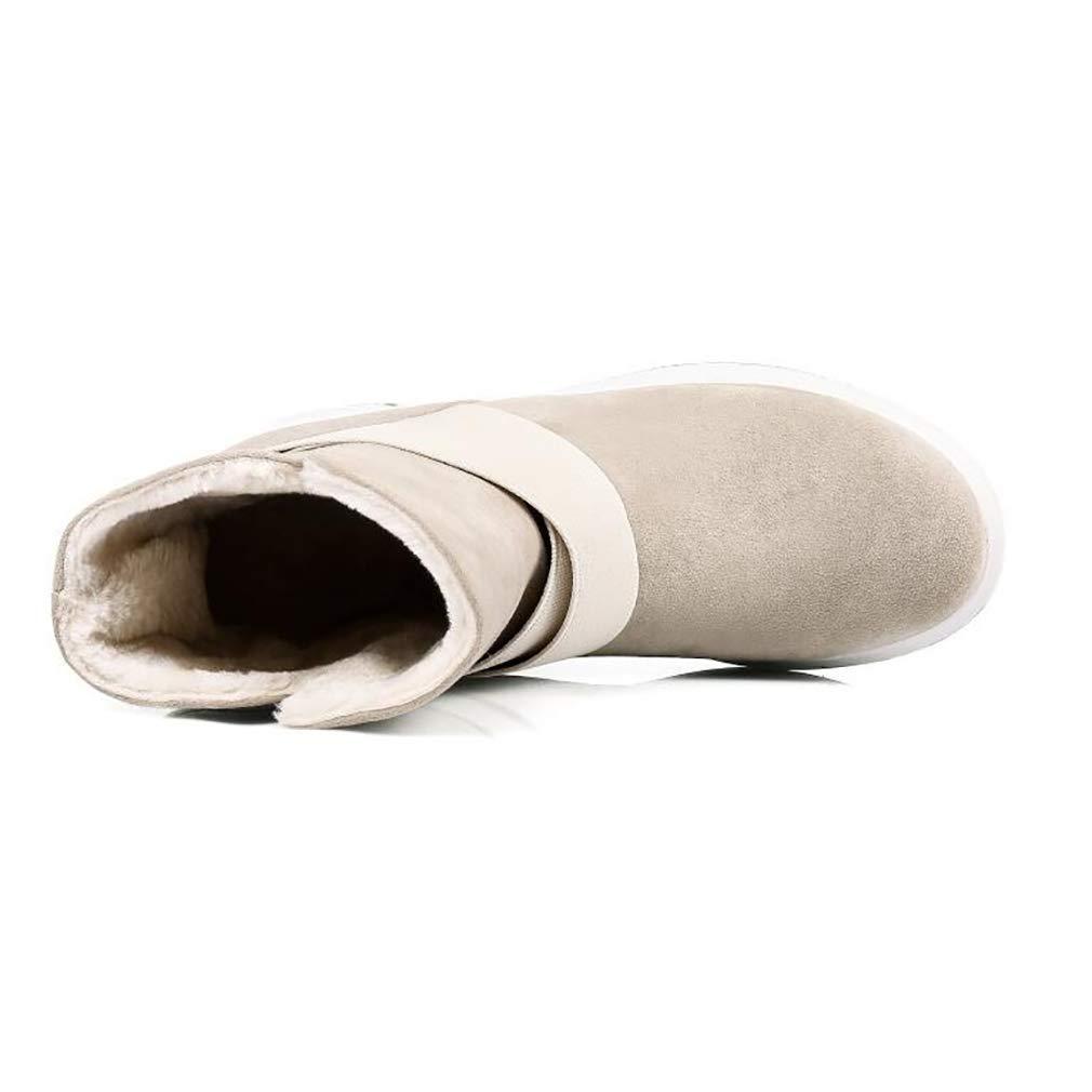 Hy Woherren Stiefelies Winter Flache Comfort Winterstiefel Warme Stiefel Damen Damen Damen Wild Snow Stiefel Stiefel Fashion Stiefelies Student Slip-Ons Outdoor Wanderschuhe (Farbe   B Größe   36) 5016fd