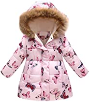 Tenworld B Toddler Girl's Windproof Winter Jacket Cotton Padded Hooded Coats 3t