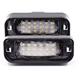 Paision Error Free LED License Plate Light for Mercedes Benz W220 S320 S420 S430 99-05 (Pack of 2Pcs)