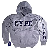 NYPD Shirt Hoodie Sweatshirt Authentic Clothing Apparel Officially Licensed Merchandise by The New York City Police Department. Gray. 2XLarge.