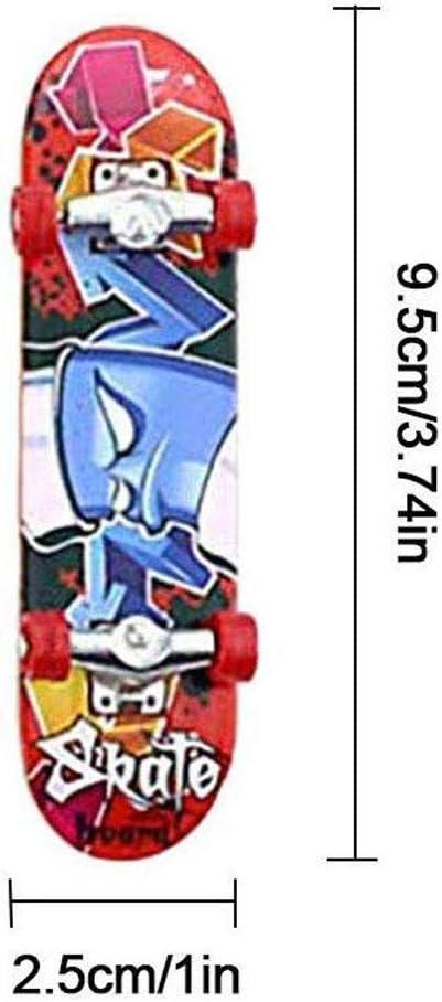 Wolike 10PCS Finger Mini Skateboard Deck Truck Finger Board Skate Toy Perfect Mini Plastic Skate Finger Board Skateboards Toys for Kids /& Adults Gift Random pattern