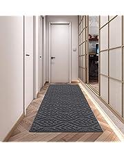 Home Beyond & HB design - Runner Rug for Indoor Bedroom Living Room Laundry Room, Anti-Skid Hallway Carpet Kitchen Rug Entry Rug, (Grey, 20 X 60 Inches)
