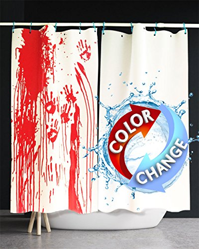 Novelty Gift and Gag Pranks for Adults Turns Red When Wet Bloody Halloween Decorations IntroWizard Blood Sheets Set of 2 Color Changing Table and Wall Poster Decorations White