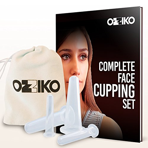 Eye Rejuvenation Kit (Facial Cupping Therapy Kit - Set of 4 Silicone Cups For Eyes, Face, Chin & Neck Vacuum Suction. Home Anti Aging Exfoliating Treatment For Healthier Skin, Treating Wrinkles, Fine Lines, Pimples & Scars)