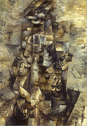 Posterlounge Cuadro de metacrilato 70 x 90 cm: Braque: Man with A Guitar de Georges Braque/Granger Collection: Georges Braque: Amazon.es: Hogar
