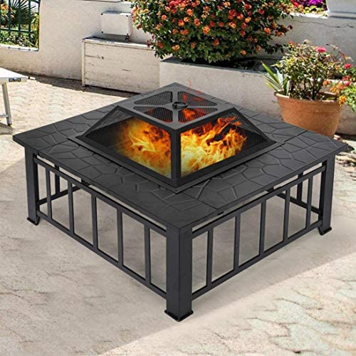 Fire Pit,Outdoor Stove,Wood-burning Steel Grill Fire Pit Bowl,Stove Grill