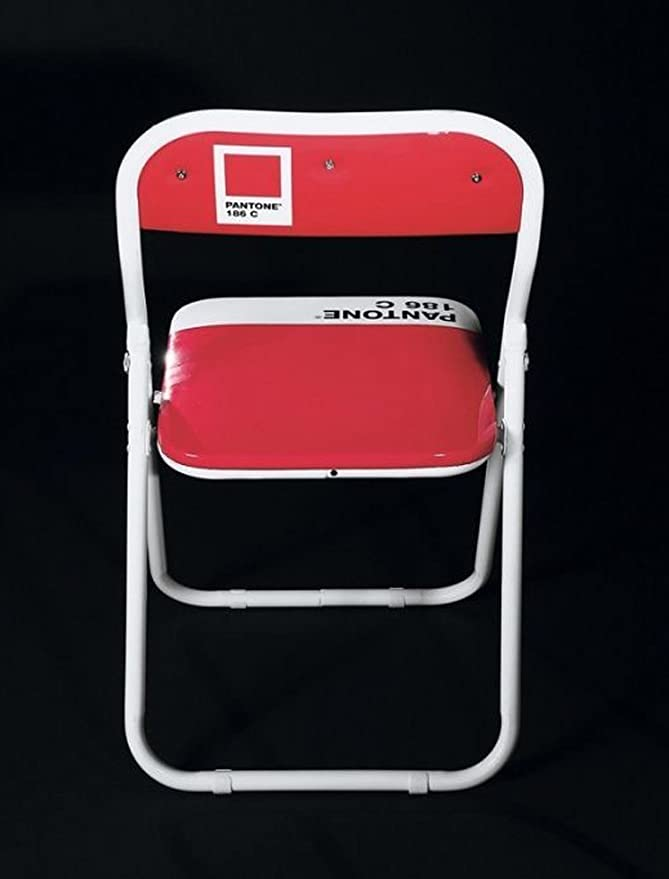 Seletti Pantone 186 Metal Folding Chair cm.44 h.46//79 ‐ Ruby RED 46x44x76 cm