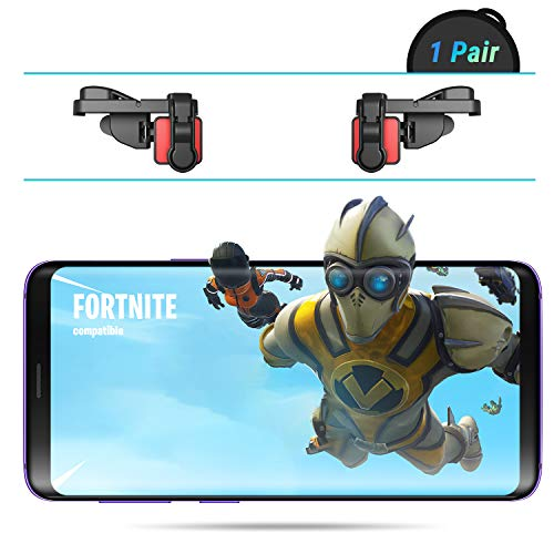 Price comparison product image [Elite Edition] Leuna PUBG Fortnite Mobile Game Controller L1R1 Game Triggers Fire and Aim Buttons for iPhone SE 6 7 8 X / Samsung Note 8 9 S7 S8 S9