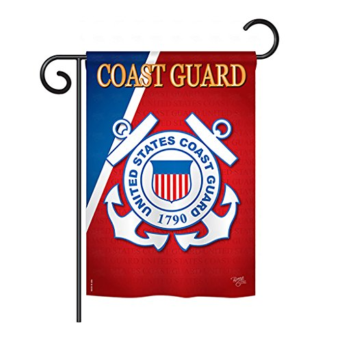 Breeze Decor G158056 Coast Guard Americana Military Impressions Decorative Vertical Garden Flag 13