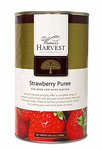 Home Brew Ohio Vintner's Harvest Fruit Puree, Strawberry, 3 lb., 1 oz. (1.39 Kg)