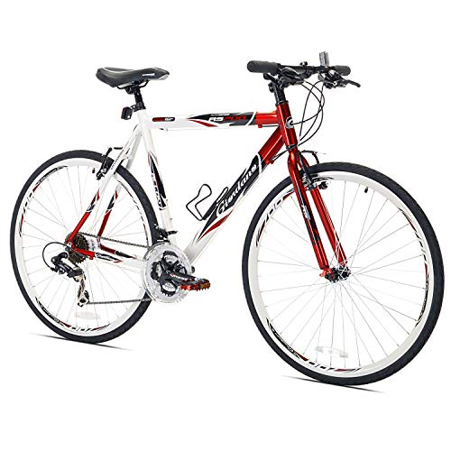 Giordano RS700 Hybrid Bike (54cm Frame), Red/White/Black