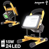 eTopLighting 15W Portable LED Flood Work Light with 24 LED Chips Rechargeable Battery and Built-in Power Bank for Outdoor for Garages, Traveling, Camping, Emergency, APL1561
