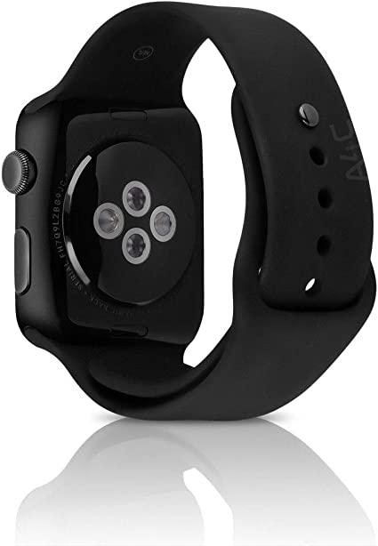 Apple Watch Series 2 Smartwatch 38mm Space Gray Aluminum Case Black Sport Band (Renewed)