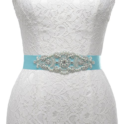 remedios-pearl-and-rhinestone-accented-satin-sash-for-women-flower-gifts-nice-giftsmint-blue