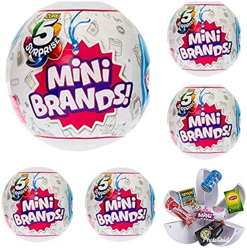 5-Surprise Mini Brands Collectible Capsule Ball by means of Zuru - 6 Ball Bundle