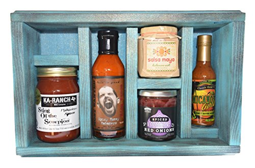 Blue Burning Box Spicy Gourmet Gift Basket Set