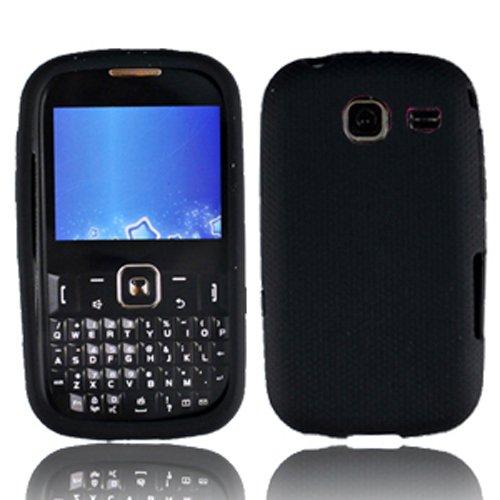 LF 3 in 1 Silicon Skin Case Cover, Stylus & Droid Screen Wiper Bundle Accessory For Tracfone Straight Talk Prepaid Cell Phone Samsung S380C (Skin Black) (Samsung S380c compare prices)
