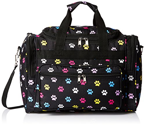 (World Traveler 81T16-589  Duffle Bag, One Size, Multi Paws )