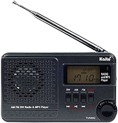 Digital DSP AM//SW//FM Clock Sleep Function Radio MP3 Player for Outdoor//Home
