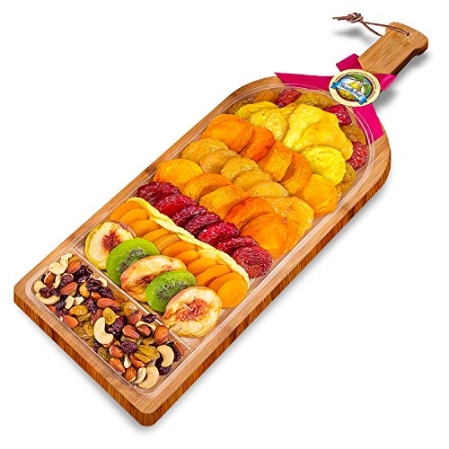 Vacaville Dried Fruit and Nut Gift Bamboo Board, Large