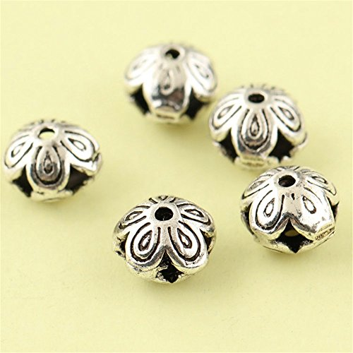 MFMei Thai Sterling Silver Flat with Plum Blossom Spacer Beads (CY198)