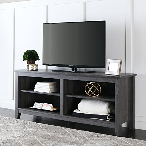 New 58'' Modern TV Stand Console in Charcoal Finish by Home Accent Furnishings