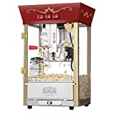Great Northern Popcorn Red Matinee Movie Theater Style 8-Ounce Antique Popcorn Machine