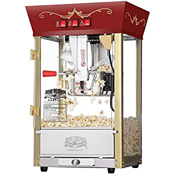Great Northern Popcorn Red Matinee Movie Theater Style 8 oz. Ounce Antique Popcorn Machine